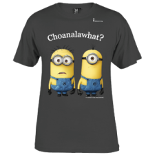 "Mens Minions ""choanalawhat?"" Tee-shirt Grey"